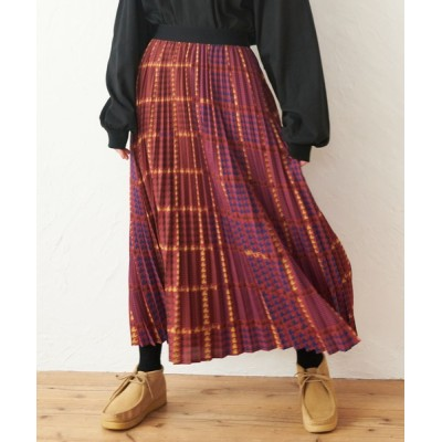 MILKFED. / PLAID PLEATED SKIRT WOMEN スカート > スカート