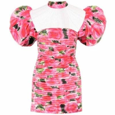 リチャード クイン Richard Quinn レディース ワンピース ワンピース・ドレス Floral duchess-satin minidress N-Rose Garden