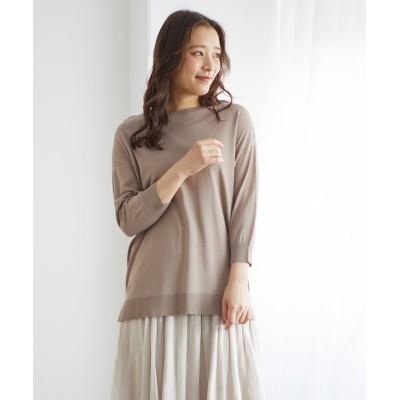 (Honeys/ハニーズ)7分袖シアーチュニック/レディース モカ