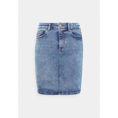 ピーシーズ スカート レディース ボトムス PCLILI SKIRT - Mini skirt - light blue denim