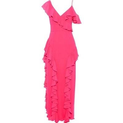 ミカエル アガール MIKAEL AGHAL レディース パーティードレス オフショルダー ワンピース・ドレス cold-shoulder ruffled chiffon gown Bright pink