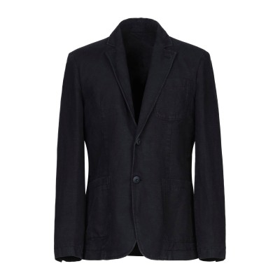 ERMANNO DI ERMANNO SCERVINO テーラードジャケット ダークブルー 52 コットン 52% / 麻 48% テーラードジャケ