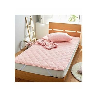 (nissen(ニッセン)) 敷パッド ベッドパッド 敷き布団パッド 綿100% パイル地 タオル地 オールシーズン 通年 ピン