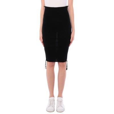 C-CLIQUE ミディスカート ブラック XS ウール 100% / レーヨン / ポリウレタン ミディスカート