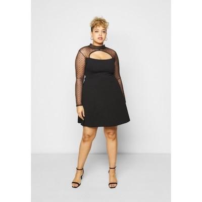 ミスガイデッド ワンピース レディース トップス DOBBY LONG SLEEVE DRESS - Cocktail dress / Party dress - black