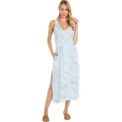 ベラ ダール bella dahl レディース ワンピース ミドル丈 ワンピース・ドレス Tie Front Midi Dress Crystal Blue