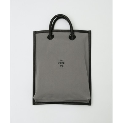 THE FRIDAY / 【20/80】トゥエンティーエイティー/CANVAS #8 LEATHER FRAME FLAT TOTE M WOMEN バッグ > トートバッグ