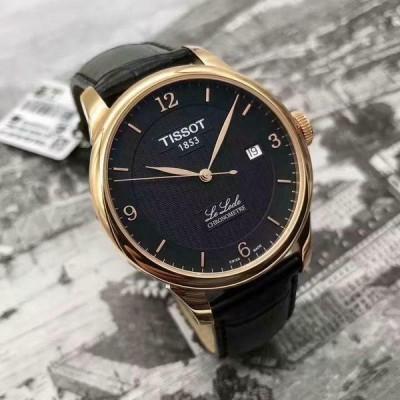 ティソ 腕時計 Tissot T006.408.36.057.00 Le Locle Chronometre Black Dial Analog メンズ Watch