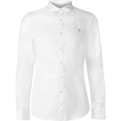 ファーラーヴィンテージ Farah Vintage メンズ シャツ ワイシャツ トップス Oxford Long Sleeve Shirt White