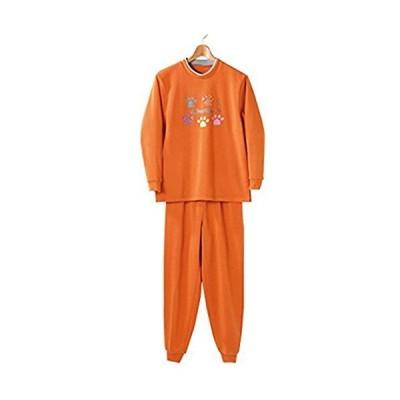 裏起毛パジャマ オレンジ 3L 4985697221678