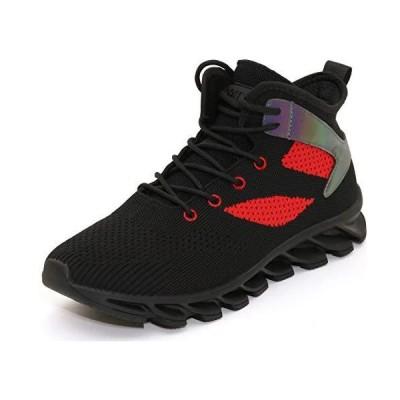 WHITIN メンズ クッション入りロードランニング | 軽量&通気性靴 | オーバーサイズミッドソール US サイズ: 11 カラー: ブラック 並