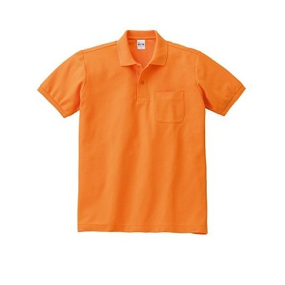 [プリントスター] 半袖 5.8オンス TC 鹿の子 ポロシャツ [ポケット付] 00100-VP メンズ オレンジ S (日本サイズS相当)