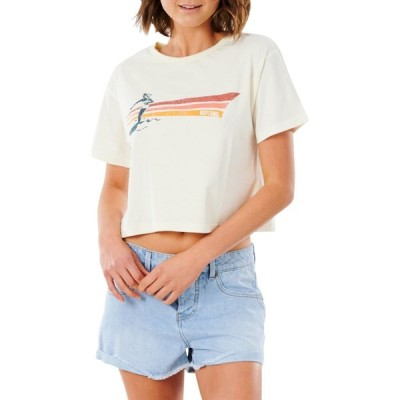 リップカール RIP CURL レディース ベアトップ・チューブトップ・クロップド Tシャツ トップス Golden State Crop Graphic Tee Bone