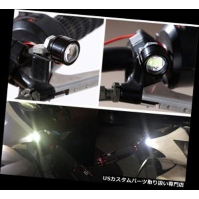 バイク ヘッドライト 2本ハンドルバースポットライトLEDオートバイヘッドライトデイタイムライトドライビングフォグランプ  2pcs Handle