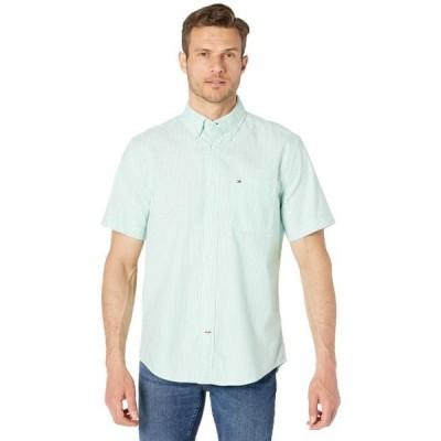 メンズ シャツ トップス Stripe Short Sleeve Button-Down Shirt in Classic Fit