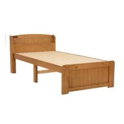 10%OFFクーポン対象商品 ベッド 木製 高さ2段調節 シングル 高さ2段調節 コンセント付 ライトブラウン (  ベット フレーム 高さ 調節 調整 棚 収納 付き すのこ 木製ベット ベッドフレーム フレームのみ 2口 コンセント 宮付き 宮 棚 付き ) クーポンコード:52RFBAW