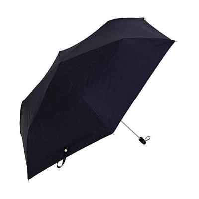 Nifty Colors(ニフティカラーズ) 折りたたみ傘 遮光猫と綿毛フラットミニ ネイビー 50cm