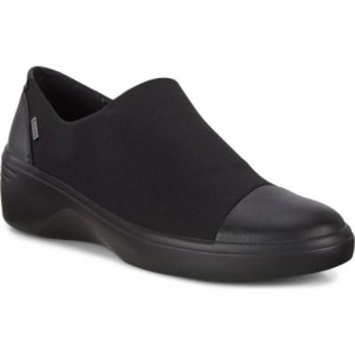 エコー ECCO レディース スニーカー ウェッジソール シューズ・靴 Soft 7 Gore-Tex Waterproof Wedge Sneaker Black/Black Fabric