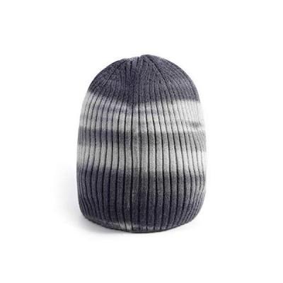 LUCMENTA レディース タイダイ ビーニー メンズ ソフト 冬用 ニット帽 US サイズ: One Size カラー: グレー