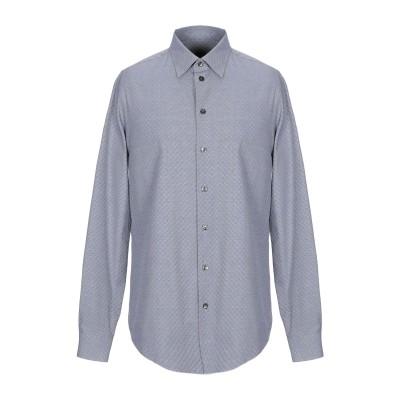 アルマーニ コレッツィオーニ ARMANI COLLEZIONI シャツ ダークブルー S コットン 100% シャツ
