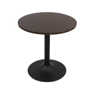 ヤマソロ(Yamasoro) ダイニングテーブル ブラウン 幅60×奥行き60×高さ60(cm) カフェテーブル fante-ファンテ- 丸型 82-629
