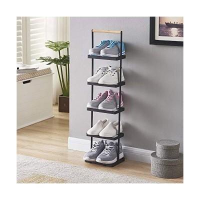 Yehapp シューズラック 省スペース 5段 靴収納 ラック 靴箱 靴棚 玄関収納 大容量 多機能収納ラック(B)