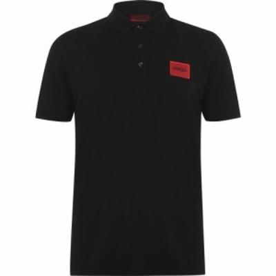 ヒューゴ ボス Hugo メンズ ポロシャツ トップス Dereso Polo Shirt Black