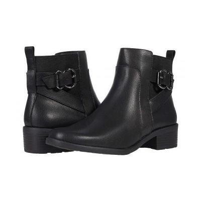 Anne Klein アン クライン レディース 女性用 シューズ 靴 ブーツ アンクル ショートブーツ Leala - Black Leather