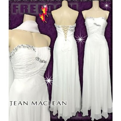 ドレス JEAN MACLEAN キャバドレス パーティードレス agehaドレス 切り替えビジューシフォンロングドレス(ストール付)結婚式
