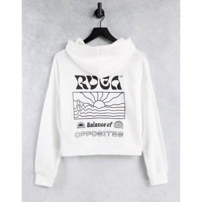 ルーカ RVCA レディース パーカー トップス Vibrations hoodie in white ホワイト