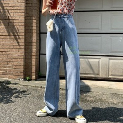 20代30代40代 デニムパンツ ボトムス 韓国風 ジーンズ カジュア ジーパン オシャレ サルエルパンツ レディース 体型カバー 着痩せ 美脚
