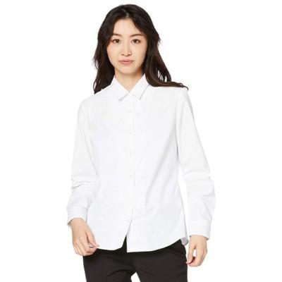セシール 形態安定ハマカラーシャツ(長袖)(UVカット・抗菌防臭) MW-1560 レディース ホワイトA 日本 3L (日本サイズ3L相当