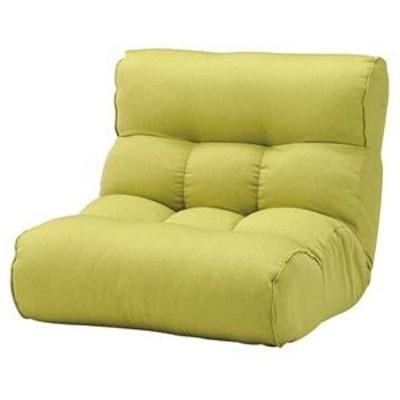 ds-2251936 ソファー座椅子/フロアチェア 【フレッシュグリーン】 ワイドタイプ 41段階リクライニング 『ピグレット2nd セレクト』 (ds22