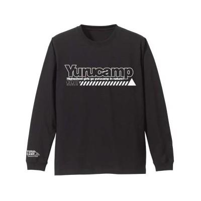 ゆるキャン△ 袖リブロングスリーブTシャツ ブラック Lサイズ