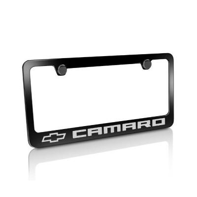 Chevrolet 2010 up Camaro Black Metal License Plate Frame