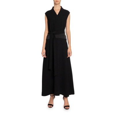 ビクトリアベックカム レディース ワンピース トップス Sleeveless Long Dress w/ Cummerbund