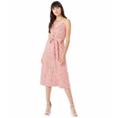 ジェイソンウー レディース ワンピース トップス Fluid Stripe Front Tie Dress Red/White