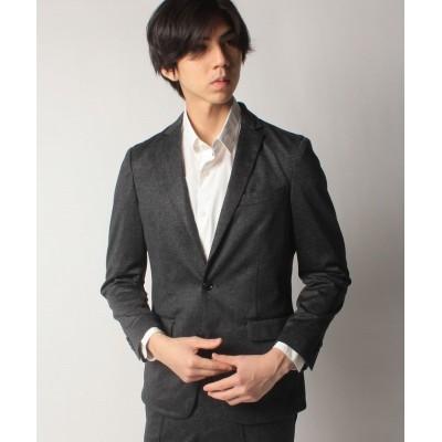 (COMME CA ISM MENS/コムサイズムメンズ)【セットアップ対応商品】プリントジャージー ジャケット/メンズ ブラック