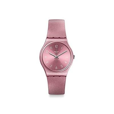 Swatch 1907 BAU Quartz Silicone Strap, Pink, 16 Casual Watch (Model: GP161)