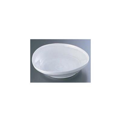 エムズジャパン 白釉たわみ8.0大皿 深 B03-35 ROO3801