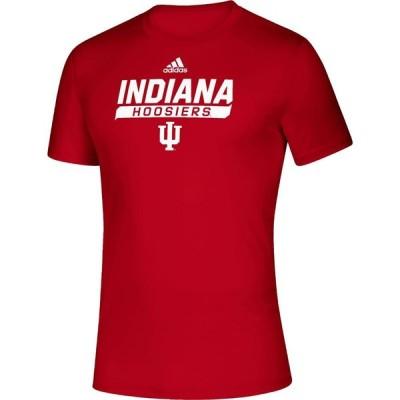 アディダス adidas メンズ Tシャツ トップス Indiana Hoosiers Crimson Tail Sweep Performance T-Shirt