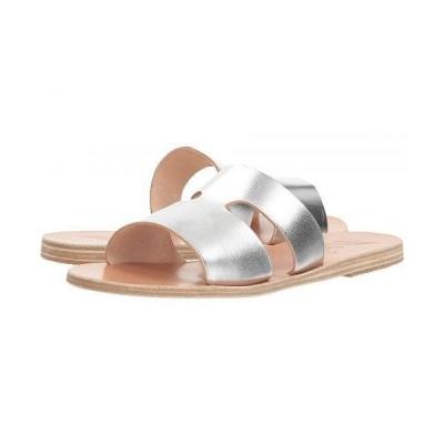 Ancient Greek Sandals レディース 女性用 シューズ 靴 サンダル Apteros - Silver Vachetta