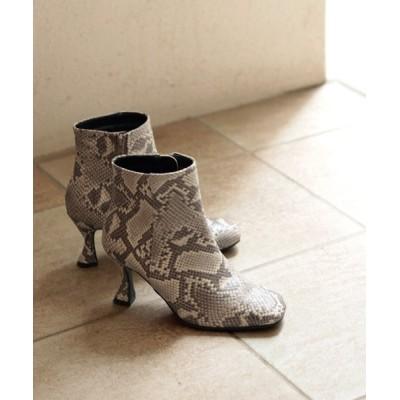 SESTO / 変形カーブヒールのスクエアトゥショートブーツ WOMEN シューズ > ブーツ