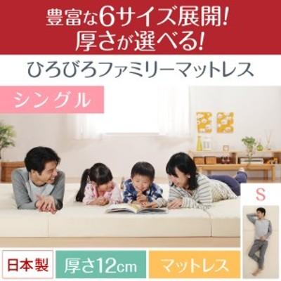 豊富な6サイズ展開 厚さが選べる 寝心地も満足なひろびろファミリーマットレス / シングル 厚さ12cm