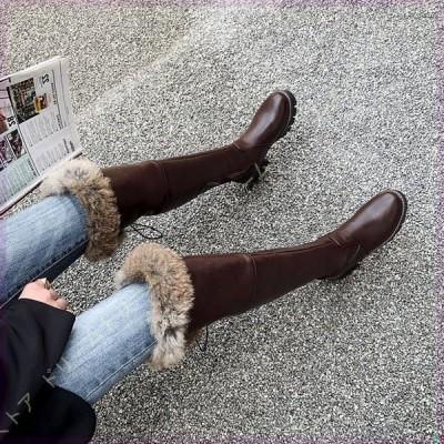 スノーブーツ 綿靴 長靴 雪靴 レディース 前厚 ロング丈 きれいめ カワイイ 小さいサイズ 防滑 疲れにくい 痛くない 保暖 防寒 ボアブーツ ローヒール