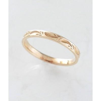 指輪 K10 フェザー ピンキーリング
