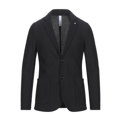 DISTRETTO 12 テーラードジャケット ブラック 48 コットン 80% / ポリエステル 20% テーラードジャケット