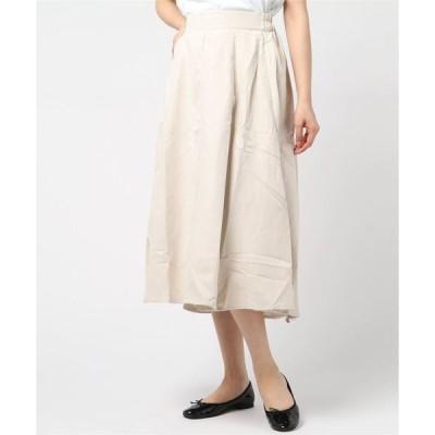 スカート 細見え&ふんわり美ライン♪フレアスカート