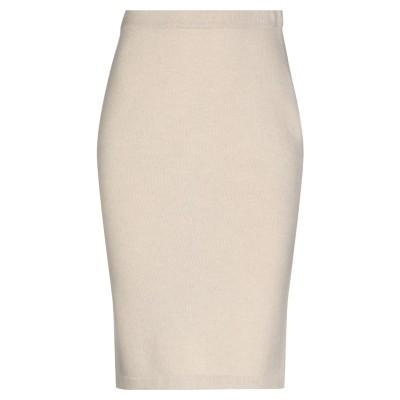マーロ MALO ひざ丈スカート ベージュ 44 カシミヤ 100% ひざ丈スカート