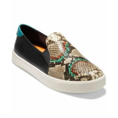 コールハーン レディース スニーカー シューズ Women's Grandpro Spectator 2.0 Slip-On Sneakers Crafted Snake Print/ Black Leather